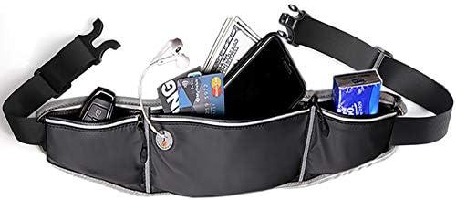 ALAIX ランニングウエストパック スリムファニーパック スポーツポーチ アウトドア防水ワークアウトウエストバッグ 調節可能なランニングベルトバムバッグ 男女兼用