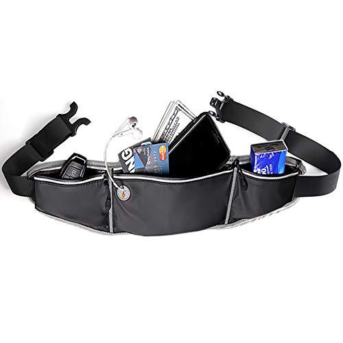 ALAIX Running Waist Packs Slim Fanny Packs Sport Pouch Outdoor Waterproof Workout Waist Bag for Adjustable Running Belt Bum Bags for Men Women