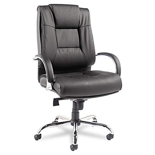 (Alera ALERV44LS10C Ravino Big & Tall Series High-Back Swivel/Tilt Leather Chair, Black)