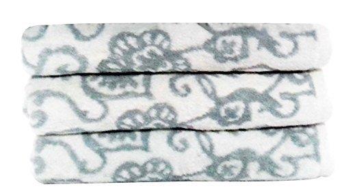 Bath Botanical (Luxurious Botanical Bath Towel Set Ashley Blue,3Pc-Pack)