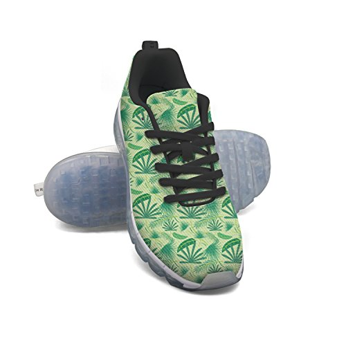 100% authentic sale online cheap sale discounts FAAERD Green Beach Palm Leaf Men's Fashion Lightweight Mesh Air Cushion Sneakers Running Shoes for sale 2014 the cheapest for sale NPq2WvZrLN