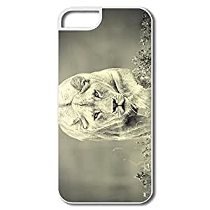 IPhone 5 Cases, Lion Cases For IPhone 5 5S - White Hard Plastic