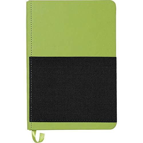 5'' x 7'' Elastic Phone Pocket Notebook - Lime Green - 100 Quantity - $4.81 Each - Customizable