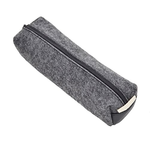 Creative Wool Felt Pencil Pen Case Stationery Pouch Cosmetic Makeup Bag 1 Pc