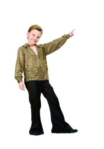 Child Disco Costumes (Boys Disco Fever Gold Kids Costume size Medium 8-10 by RG Costumes)
