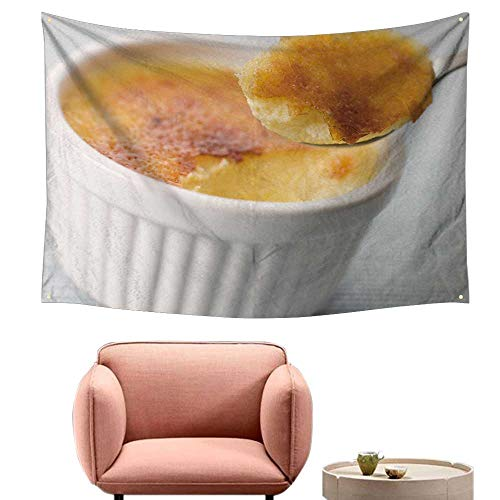 alsohome Wall Decor Tapestry Wall Tapestry for Bedroom Spoonful Creme Brulee 72
