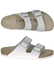 Birkenstock Arizona Sandals - EUR 40 - narrow - white - leather