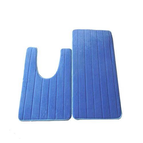 1 Set  U-shaped Coral Fleece Bathroom Mat Toddler No Slip Te