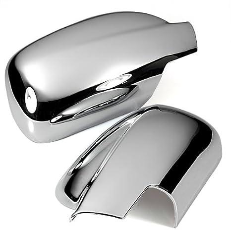 Triple cromado puerta lateral espejo para llantas moldura para 04 – 06 Peugeot 307 307 CC