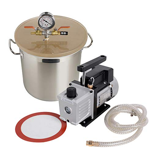Denshine 5 Gallon Stainless Steel Vacuum Degassing for sale  Delivered anywhere in Canada