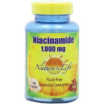 Nature's Life Niacinamide Tablets, 1000 Mg, 100 Count