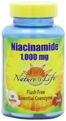 Nature's Life Niacinamide Tablets, 1000 Mg, 100 Count