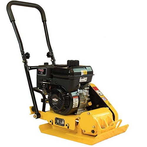 RuggedMade Vibratory Plate Compactor 2,400 lbs Force, Pavers Soil and Asphalt Compaction (5 HP Briggs & Stratton Engine)