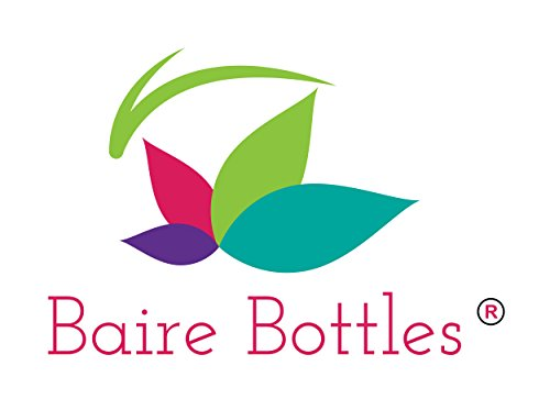 BAIRE BOTTLES - 4 oz CLEAR PLASTIC REFILLABLE BOTTLES with WHITE HAND-PRESS FLIP DISC CAPS - For TRAVEL OR GIFTING Soap, Shampoo or Lotion - PET, BPA Free, Lightweight, 6 Pack, BONUS 6 FLORAL LABELS by Baire Bottles (Image #2)