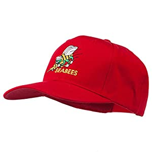 Navy Seabees Symbol Embroidered Cap - Red