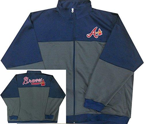 (Majestic Atlanta Braves MLB Mens 2-Tone Track Jacket Big & Tall Sizes (4XL))