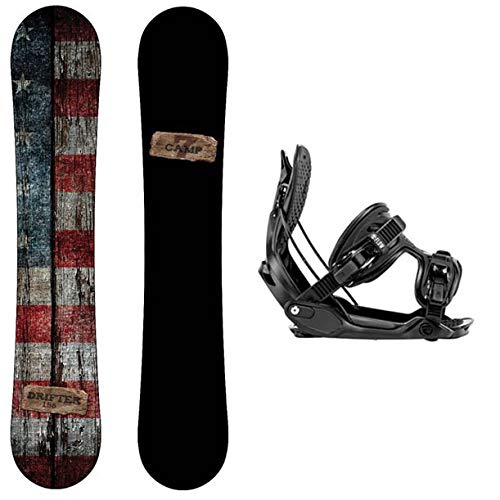 Camp Seven Drifter Snowboard and Flow Alpha MTN Men's Snowboard Package 2021