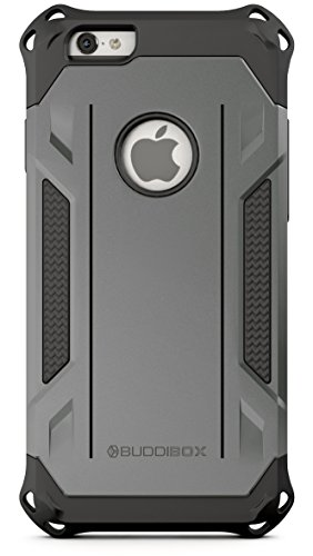 BUDDIBOX iPhone 6s Case, [Corner Series] - Heavy Duty Protection from Falls - Also Compatible with Apple iPhone 6 - [Grey]