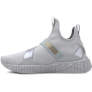 PUMA Women's Defy Mid Sneaker, High Rise-Silver, 8 M US