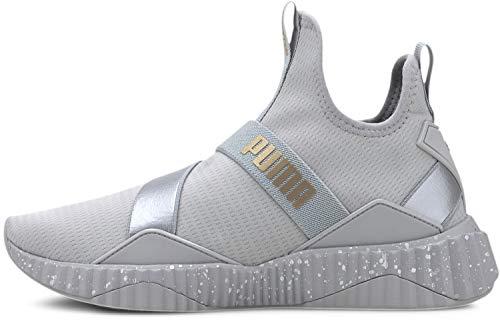 PUMA Women's Defy Mid Sneaker, High Rise-Silver, 7.5 M US