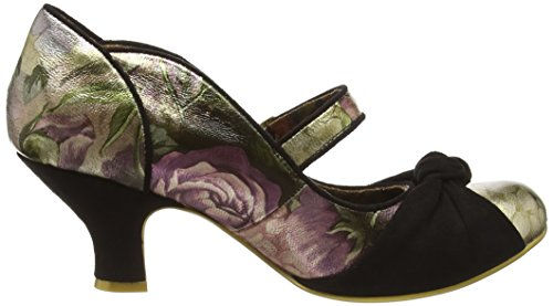 Irregular Choice Floral Waves - Tacones Mujer Negro - Black (Black Multi)