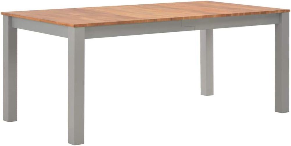 Festnight Table de Salle /à Manger Table /à D/îner 180x90x74 cm Bois de ch/êne Solide