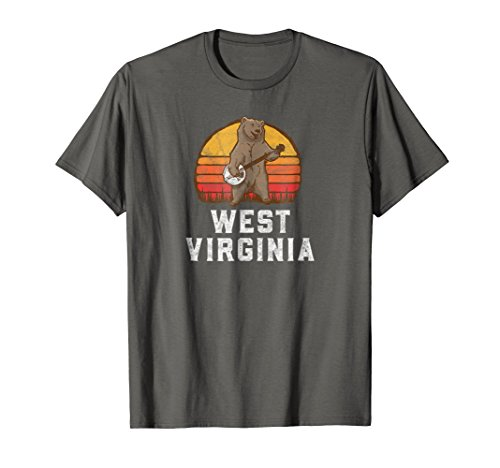 Funny West Virginia Grizzly Bear Bluegrass Banjo T Shirt