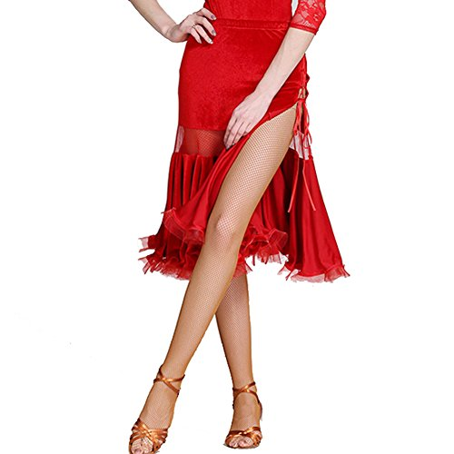 red Swing Cucitura Q Birichino Sexy Donne Gonna Dance Velluto Plissettato Latino Busto jiu xl Dress Strap Cave OwfOqZC