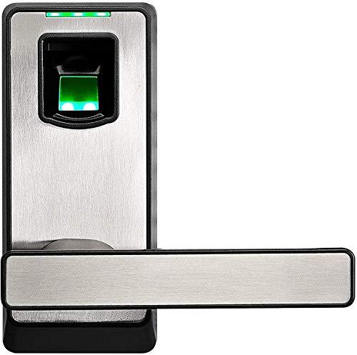 ZKTeco Smart Door Lock with Fingerprint, Reversible Handle, LED Indicator, Emergency Key- PL10