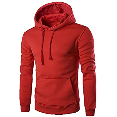 Discount Abetteric Men's Hipster Kangaroo Pocket Hoodies Pullover Sweatshirts for cheap