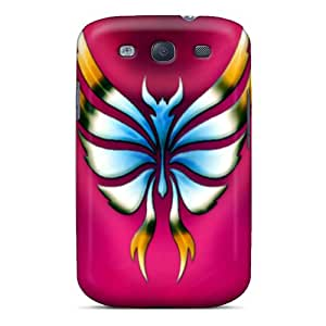 Durable Hard Phone Cases For Samsung Galaxy S3 (qmp18781yvob) Provide Private Custom Stylish Tribal Butterfly Skin