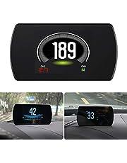 Head Up Display, Universal 4.3in Digital Car Dashboard Heads Up Windshield Snelheidsmeter Projectorsysteem, Met Speedup Test Remtest Oversnelheid Alarm HD LCD Display Voor Alle Voertuigen
