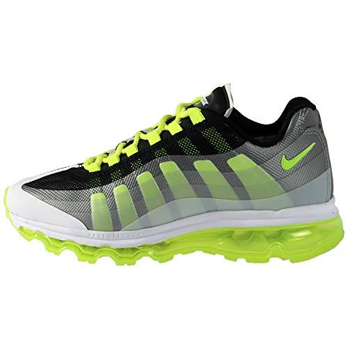 Nike Air Max 95 360 Black White Volt Big Kids GS Running (GS) (4.5)