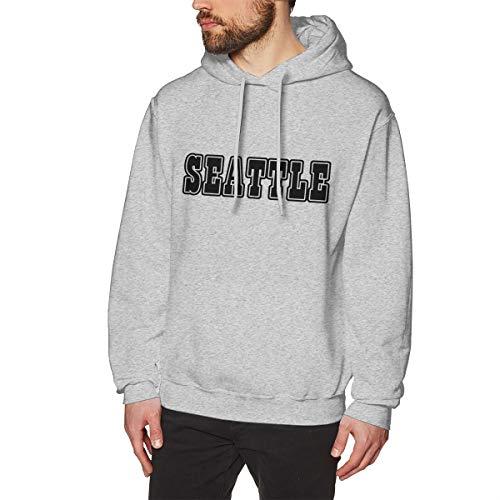 SARA NELL Men's Sweatshirt American Seattle Hoodies Pullover Hooded Sweatshirts