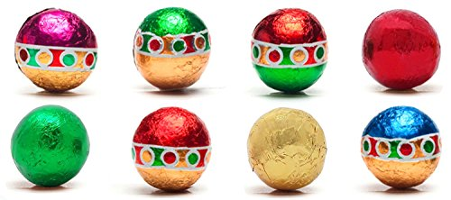Madelaine Christmas Ornament Premium Milk Chocolate Balls, Wrapped In Italian Foils Reminiscent Of Miniature Ornaments (1 LB) ()