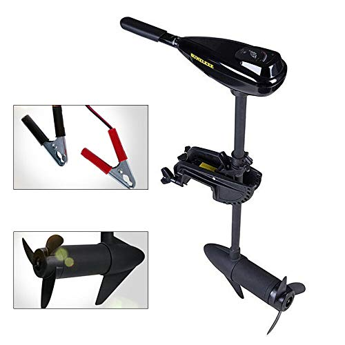 MONIPA Outboard Motor Boat Engine, 12V 58LBS Electric Trolling Motor Boat Fishing Outboard Engine,Telescopic Type Shaft Brush Motor 150A 1700R/min for Dinghy Kayak Inflatable Boat