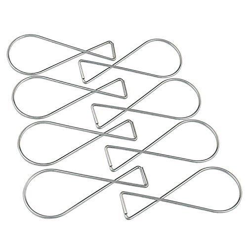 100pcs Ganchos Clips–pistha T-Bar Squeeze Perchas clips, el uso en oficina, classromm de techo o salón, cama de...