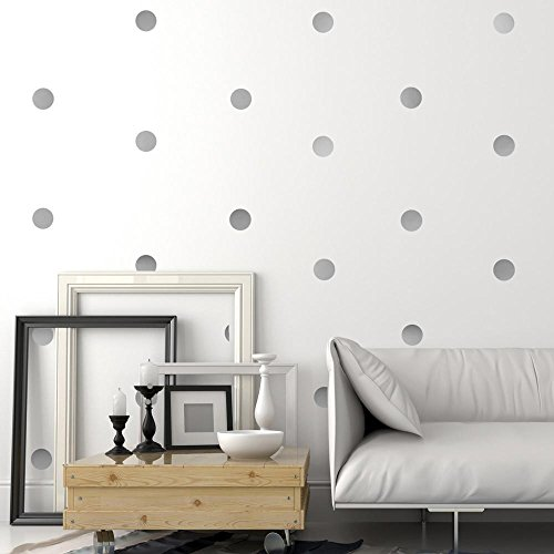 Silver Wall Decal Dots +