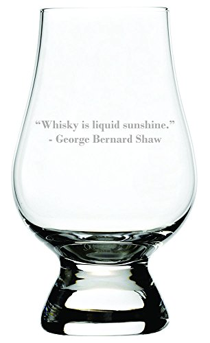 Whisky Is Liquid Sunshine Quote Etched Glencairn Crystal Whisky Glass