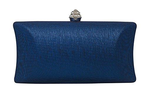 Clutch Royal Box Clasp Chicastic Wedding Blue Purse Hard Bridal Evening Rhinestone Crystal Bag Cocktail wqavxAZ