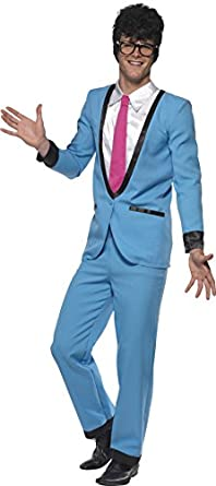 60s -70s Men's Costumes: Disco, Hippie, Sonny Bono, Retro Smiffys Mens Teddy Boy Costume with Trousers Jacket with Mock Shirt and Tie $55.41 AT vintagedancer.com