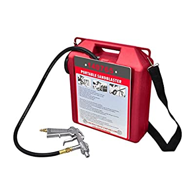 Anself 30 Lb Portable Air Sand Blaster Kit with Sandblasting Gun and Hose