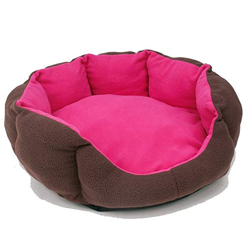(Aomomy Round Donut Pets Cushion Bed Cats or Small Dogs Self Warming Beds Super Soft Durable Fabric Pet Supplies)