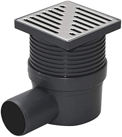 Regulated Height Side Outlet 100x100mm Floor Ground Waste Drain Gully Trap