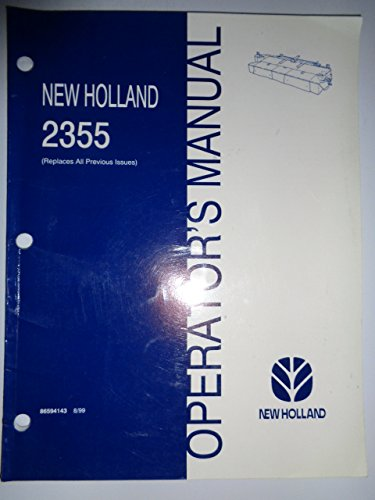 New Holland 2355 Discbine Disc Auger Header Operators Owners Manual 8/99