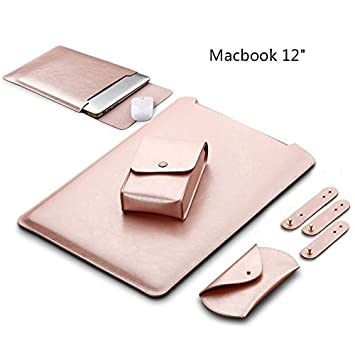 official photos a438b 133bd LAPOND Waterproof Sleek Leather MacBook Sleeve 12 Inch , Soft Sleeve ...