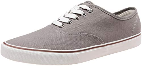 VEPOSE Men's Fashion Sneaker Canvas Casual Shoes Low Top Skate Shoe (9,Grey)
