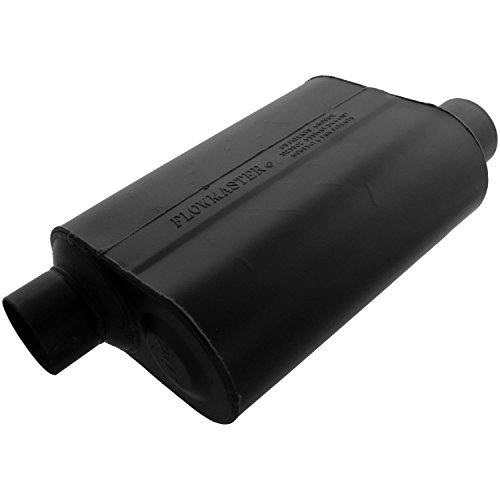 - Flowmaster 953048 Super 40 Muffler - 3.00 Offset IN / 3.00 Offset OUT - Aggressive Sound