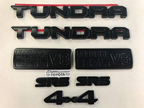Black Out Emblem Overlay Kit for Toyota Tundra PT948-34181-02