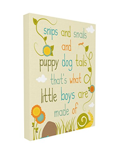 (The Kids Room by Stupell Snips and Snails and Puppy Dog Tails Textual Canvas Art, 16